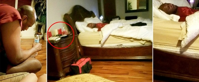 Lamar Odom pictured passed out on brothel bed hours before he overdosed