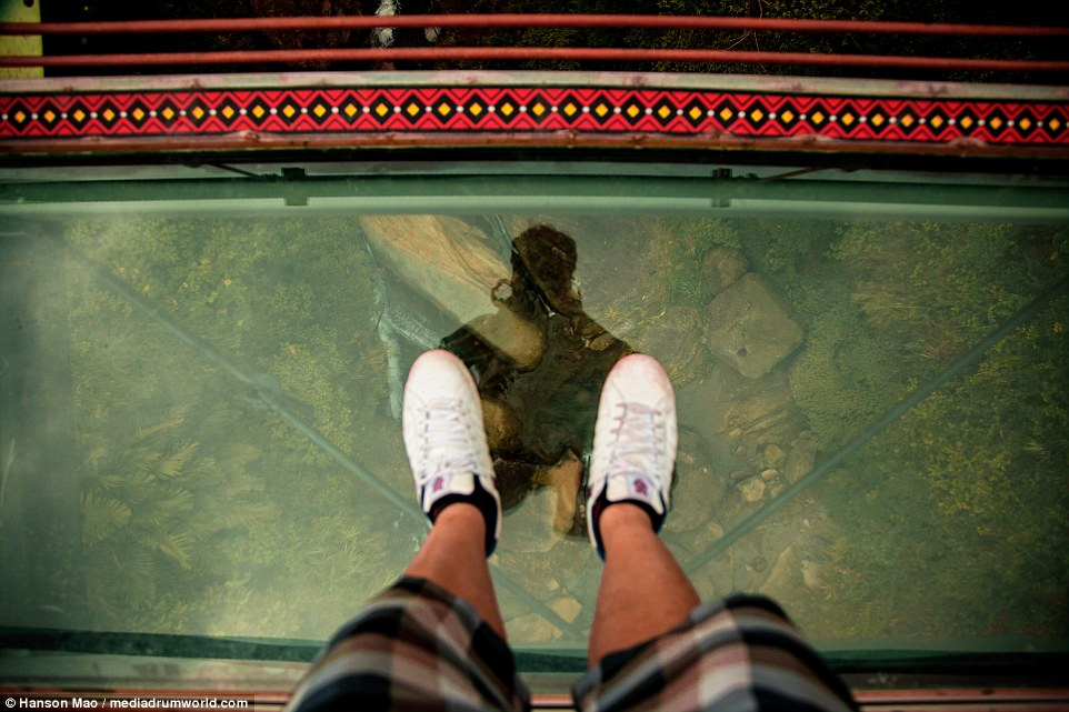 For some, the jaw-dropping height is too much to bear when looking down and numerous tourists have been known to freeze mid-crossing