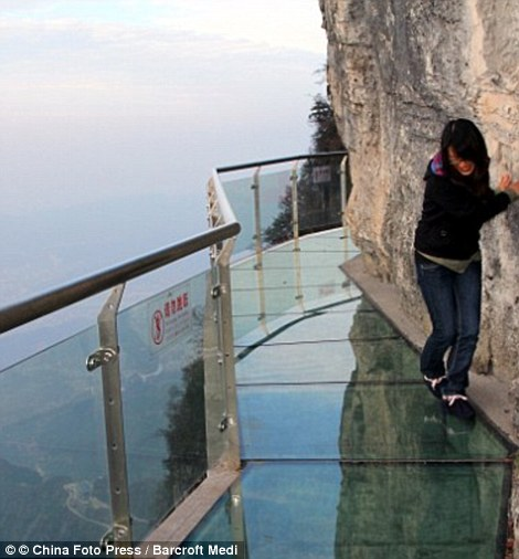 Tianmen Mountain in China glass path sky walk