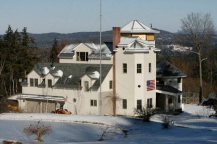 Tax evaders Ed and Elaine Brown's home in Vermont has finally sold, after an auction last year turned up no bids because authorities couldn't guarantee it wasn't still booby-trapped. The compound pictured above in 2007