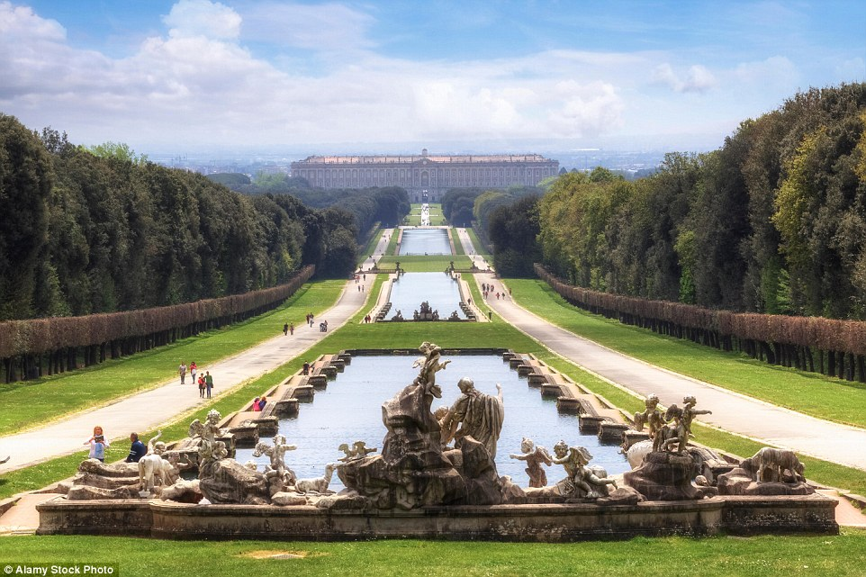 It may be the largest palace in the world, but the Unesco protected Royal Palace of Caserta in Italy is in desperate need of repairs. Part of the roof fell in last year and it requires renovations