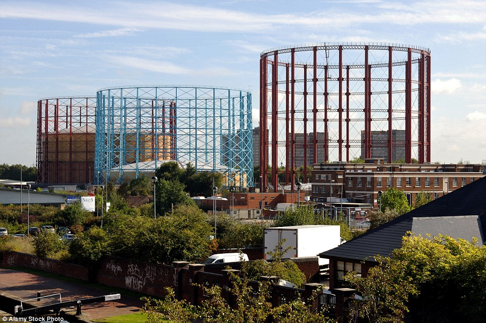 Distinctive gasometers have become the norm during the 200 years the UK has been using gas. These gas holders were first used to store coal gas and later natural gas for  urban areas, but since the 1960s, nearly all have become obsolete, with many dismantled