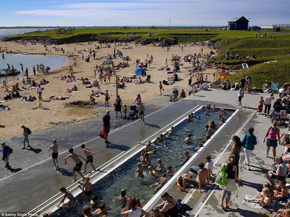 The Nautholsvik geothermal beach boasts a pool with simmering sea water and hot tubs, with an entry fee of just 500 Icelandic krona