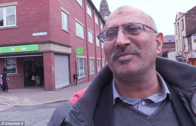 Mohammed Salim  has been signing on at the job centre for a decade and gets £27,000 a year in benefits