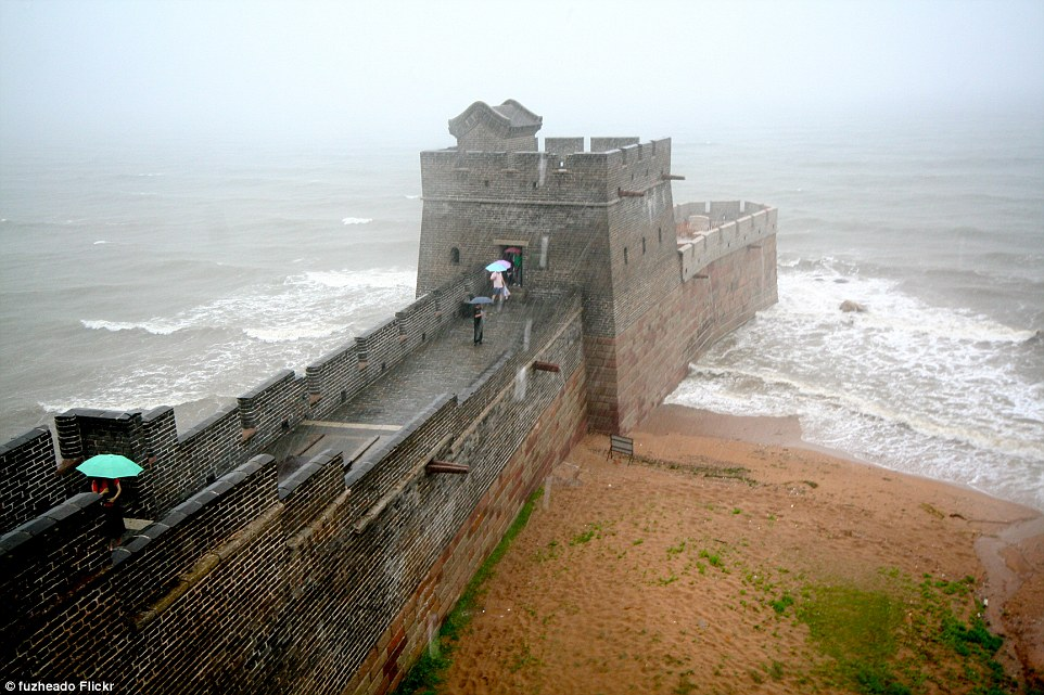 While many can instantly recognise pictures of the Great Wall of China, the fascinating end of the famous landmark is less well-known