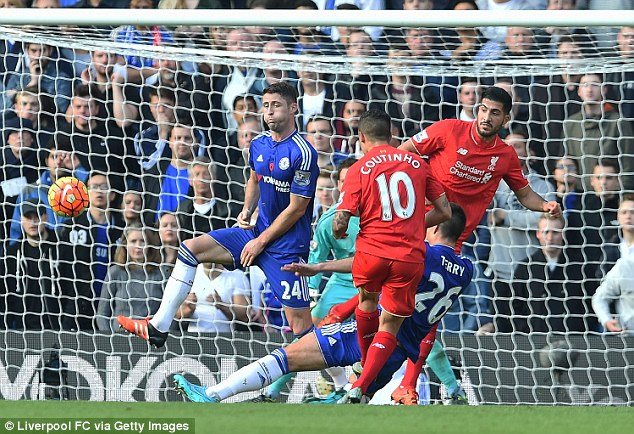 Image result for coutinho goal vs chelsea