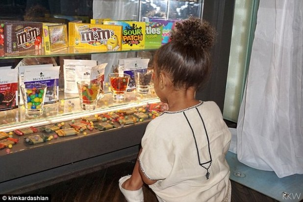 So hard to choose!North clearly had a ball at the event. The Calabasas native was seen looking at the candy display, where M&Ms and sour Skittles were made available