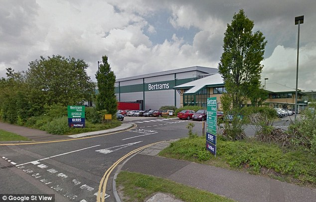 The picture, taken inside the company's warehouse in Norwich (pictured), was uploaded to the social network by a female colleague with the caption: 'OMG I'm f****** crying.... I'm sure there's a wolf fleece appreciation page pahahaha'