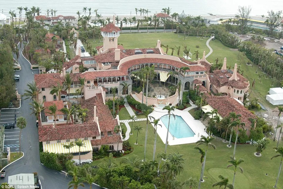 Sweet escape: The Trump family often spend weekends and vacations at the resort in Palm Beach, Florida