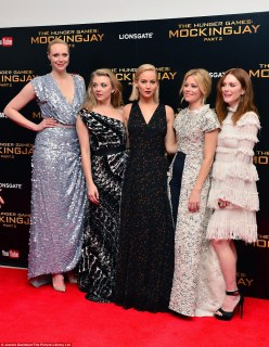 Leading ladies: The  actresses (L-R) Gwendoline Christie, Natalie Dormer, Jennifer, Elizabeth and Julianne joined forces