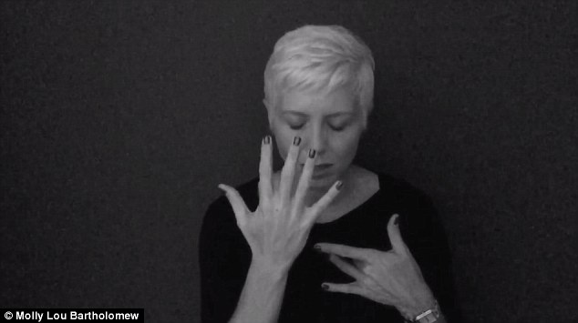 Powerful: American Sign Language (ASL) interpreter Molly Lou Bartholomew, 39, from Orlando, Florida, has stunned viewers with an emotional translation and performance of Adele's Hello