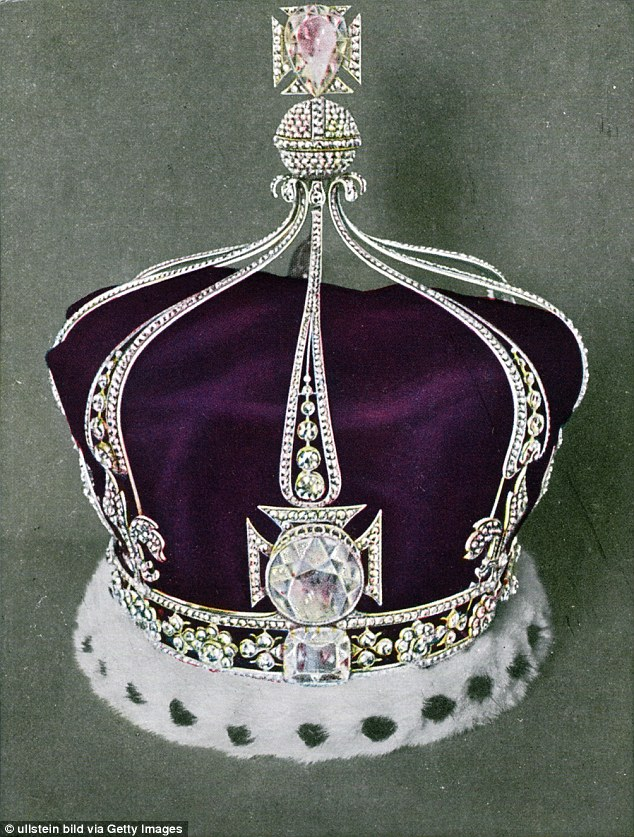 Dazzling: The Koh-i-Noor diamond could be stripped from Britain's Crown Jewels and returned to India
