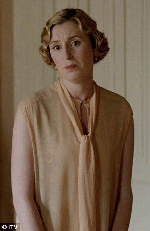 But only after she ruined her sister Lady Edith's (right, Laura Carmichael) future happiness