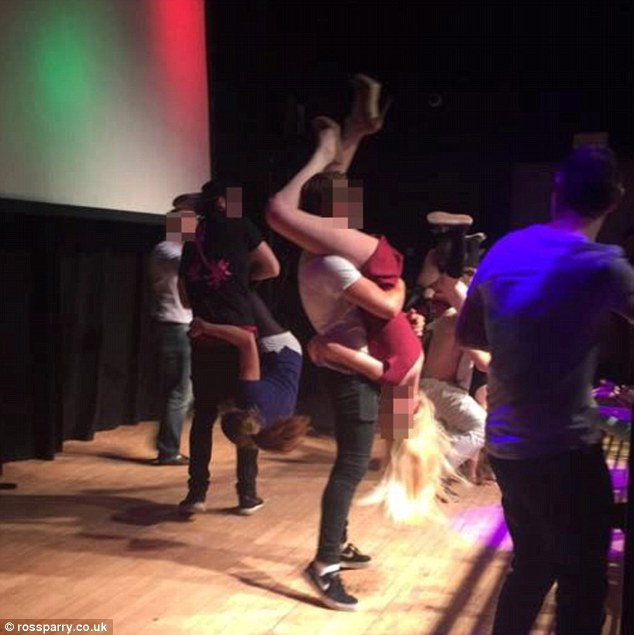 Sex in front of a crowd