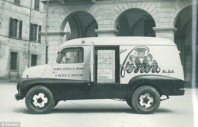 Popular: By the early 1950s, Pietro needed more than 1,000 vans (pictured) to transport his famous chocolate treat around the country