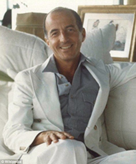 Behind the design: Angelo Donghia, known as 'the Saint Laurent of sofas', designed Trump's penthouse in Louis XIV-style. His list of clients beyond Trump included Ralph Lauren, Barbara Walters, Mary Tyler Moore, Liza Minelli, Neil Simon and Diana Ross