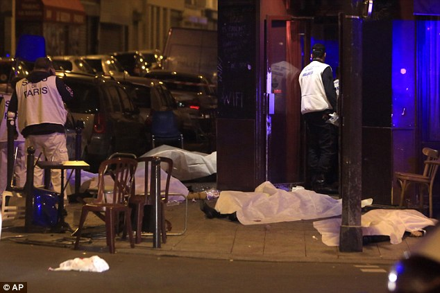At least eight militants, all wearing suicide vests, brought unprecedented violence to the streets of the French capital in the bloodiest attack in Europe since the Madrid train bombings in 2004