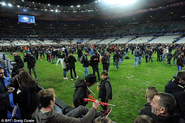 A second attacker at the stadium is believed to have been as young as 15. Supporters of both France and Germany were held in the stadium until they could be safely evacuated