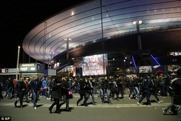 A Syrian passport has been found on the body ofone of the suicide bombers who blew himself up outside the Stade de France stadium in Paris last night