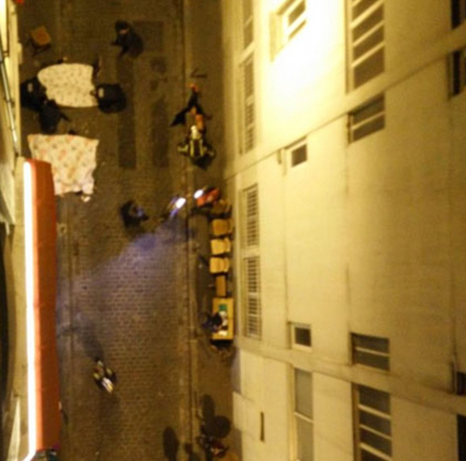 Witnesses have told of how they saw bodies littering the streets of Paris after a machine gun wielding attacker went on a rampage in central Paris