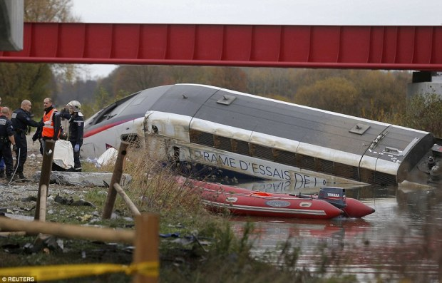 A train has derailed near the French city of Strasbourg, killing five and injuring seven
