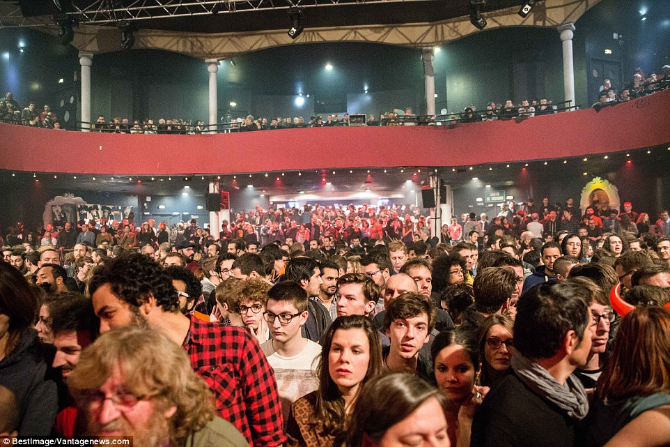 The pictures are understood to have been taken just a few minutes before three gunmen burst into the venue at 9.40pm (8.40pm GMT) as the Californian rock band were launching into one of their favourites, Kiss The Devil