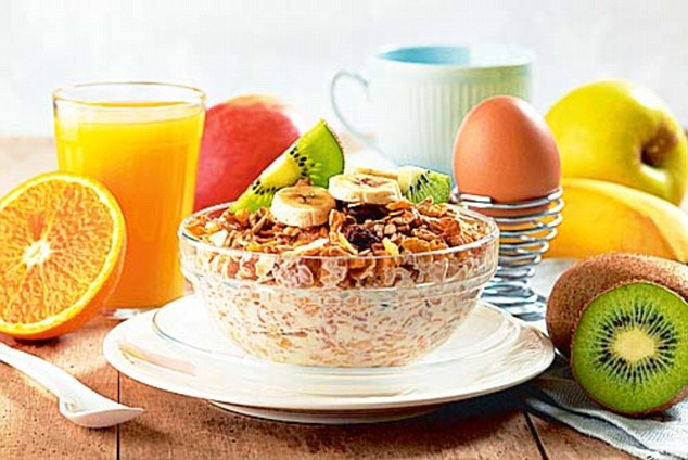 Pupils who eat a healthy breakfast every day are more likely to perform better in school, research shows (file picture of breakfast)