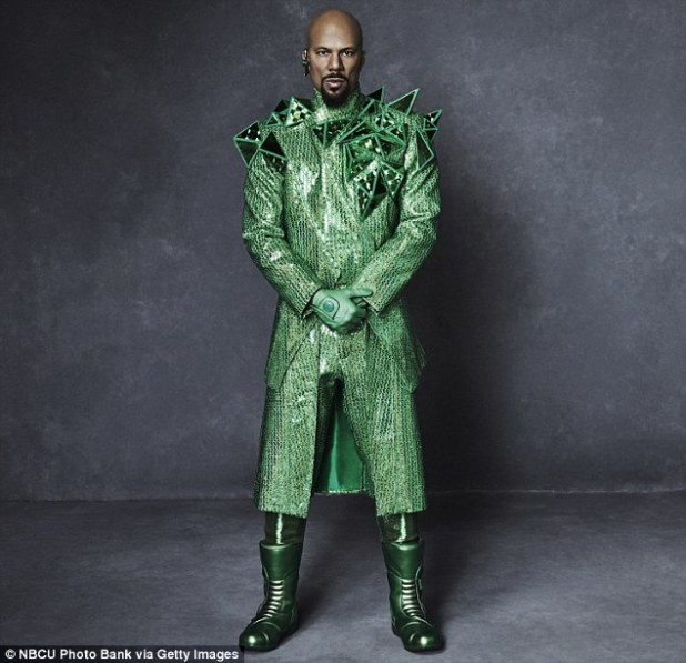 Ready to go: The Hell On Wheels actor wore green trousers, boots and gloves