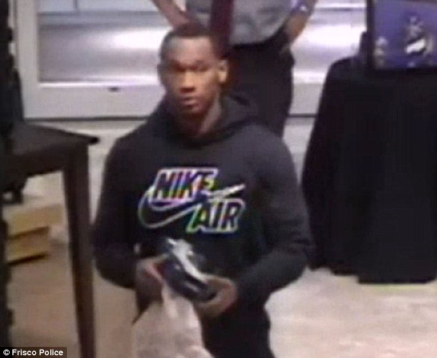 Randle's first arrest came in October 2014, when he was caught on camera taking underwear and cologne worth $123 from a Dillard¿s store in Stonebriar Center Mall in Frisco, Texas