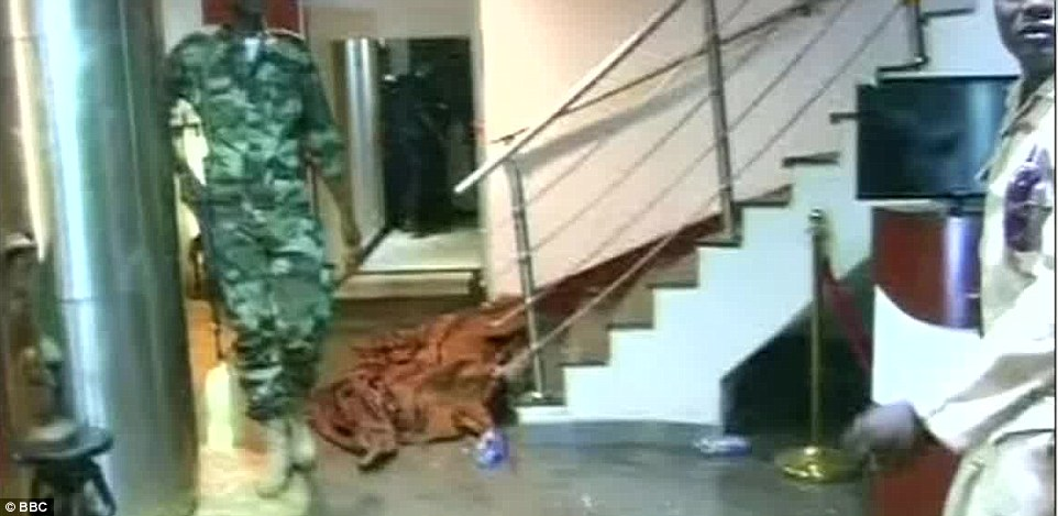 Footage has emerged from inside the hotel where special forces have began clearing the building floor by floor
