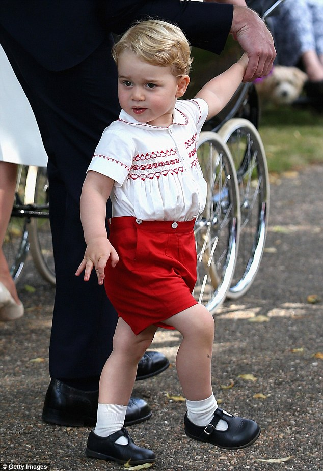 Prince George, two, has apparently been cruising around the lanes of his Norfolk home on a £100 toy tractor - after his mother, the Duchess of Cambridge, revealed on Friday that he is 'obsessed' with anything with wheels
