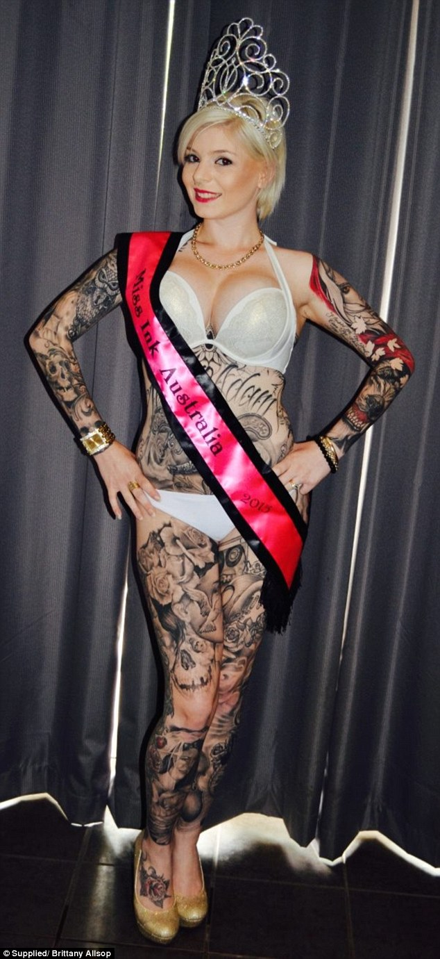 Body confidence:'I used to say I would get tattooed one day and cover my scars,' she said