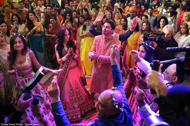 The wedding of Rohan Mehta to his new bride Roshni at a historic venue in Florence. Mr Mehta is the son of Indian millionaire Yogesh Mehta, who reportedly spent £14million on the ceremony