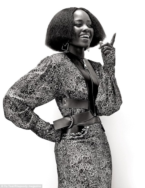 Lovely Lupita: For the seventies-inspired spread in United Hemispheres' mag, Nyong'o was outfitted by her longtime stylist Micaela Erlanger