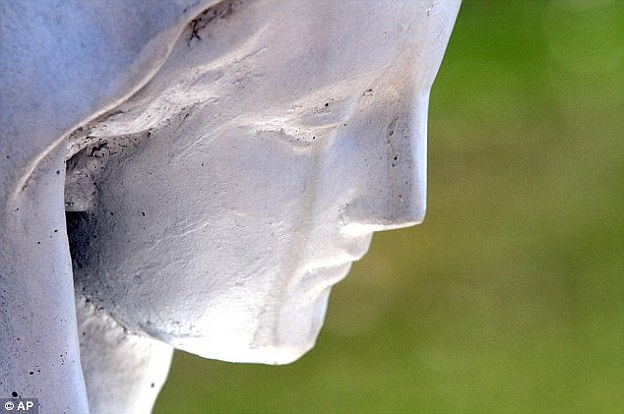 Last year, the sight of the 'weeping' sculpture in Griffith, Indiana, led many to believe it was a sign from god