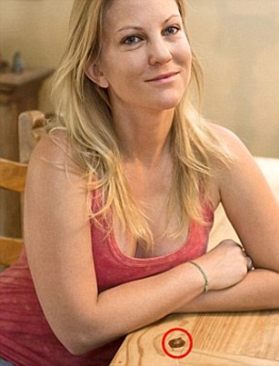 Jaimie Beebe, 37, a casting director from Los Angeles, claims she found the face of Jesus in her dining table