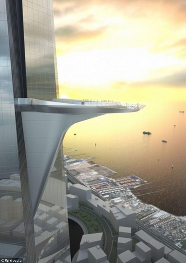 The tower will feature a stunning viewing deck allowing visitors to walk around an 'air park'