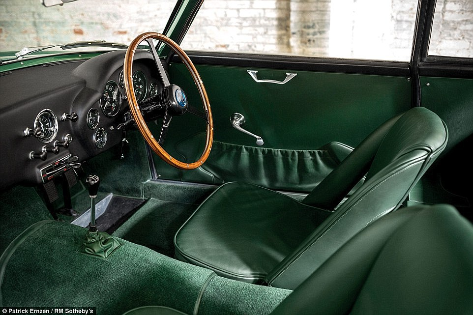 Plush: Just 19 Aston Martin DB4 GT Zagatos were built in a deal with the Italian design house in the 1960s. The car's interior is pictured