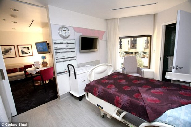 Like a hotel: The hospital also offers two-bedroom suites for just under $3000 night