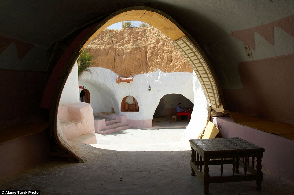 This is the Sidi Driss Hotel at Matmata that will be hoping it can cash in on the upcoming film release