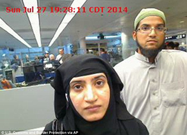 Malik and husband Syed Farook went through customs at Chicago's O'Hare International Airport in July 2014