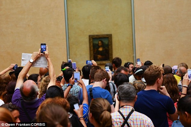 Da Vinci is believed to have worked on the painting between 1503 and 1517 and for centuries, it's been believed that the woman with the enigmatic smile is Lisa del Giocondo, the wife of a Florentine silk merchant. The portrait attracts thousands of visitors at The Louvre where it is on show (stock image)
