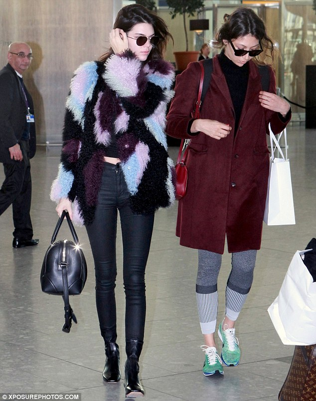 Heading home to the family? Kendall's flight comes just hours after her sister Kim, 35, and husband Kanye West, 38, left the Cedars-Sinai hospital with their new-born son Saint