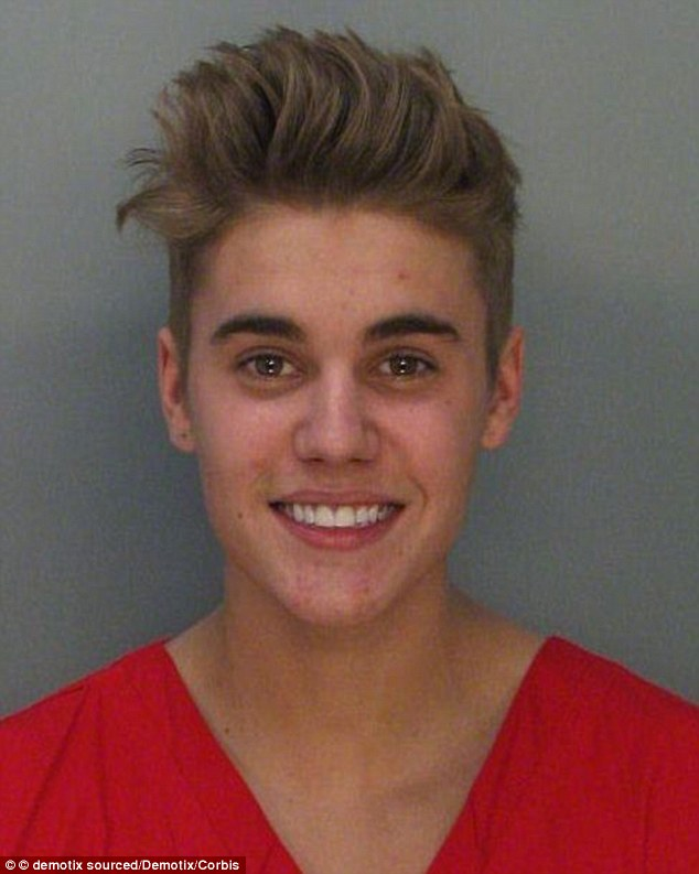 Busted! A little over a year ago in Miami Beach, Bieber spent a night in jail after being arrested for DUI, resisting arrest, drag racing, and driving with an expired license (pictured in 2014)