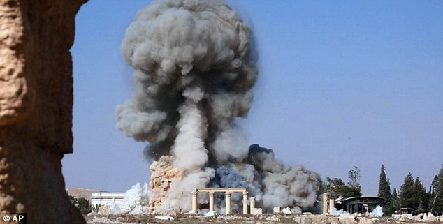 Temple of Baalshamin: In Syria, ISIS has already blown up historic sites at the Unesco world heritage site in Palmyra, including temples, columns and sculptures which the Islamist group claims depict 'false idols'