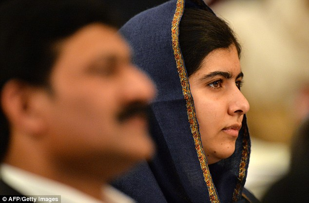 Malala (with her father in England) said that it would be unfair for America's next president to 'associate 1.6billion with a few terrorist organisations', referencing the number of Muslims worldwide