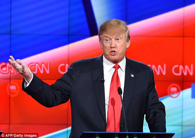 Trump (pictured during Tuesday night's presidential debate) has received criticism from across the political spectrum for his proposal, but stuck by it during the debate, adding: 'People like what I say'