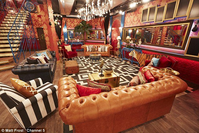 Headache-inducing: The living room features a clash of colours, fabrics and styles in a bid for boldness
