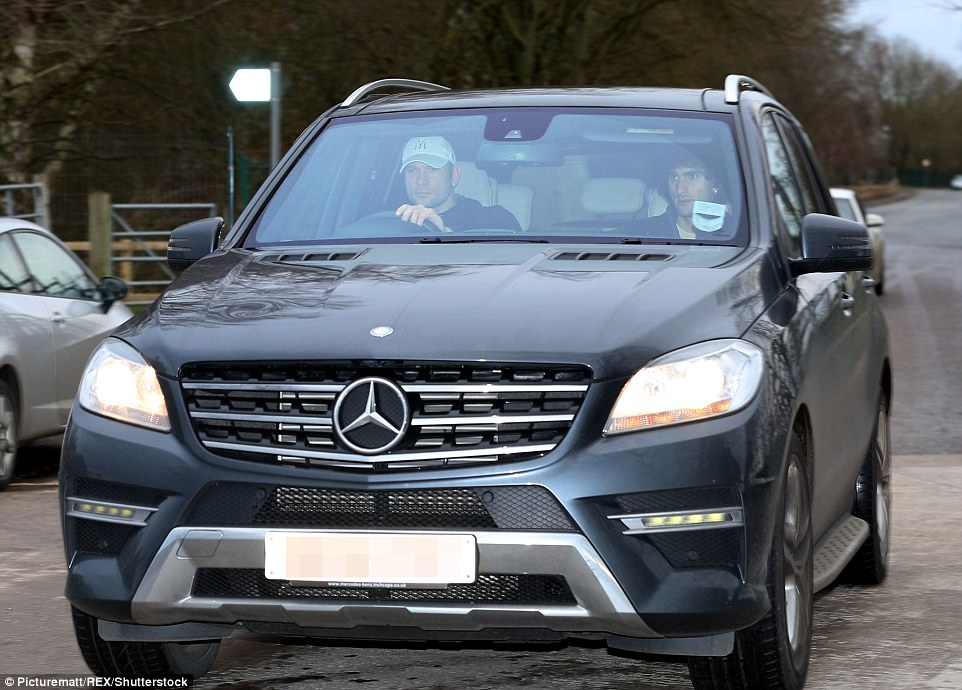 Maroune Fellaini, who started before being replaced on the hour at the weekend, is driven into the training ground in a Mercedes