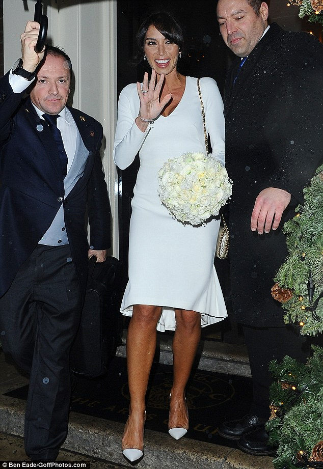 Pretty as a petal: The Irish star was seen clutching onto a beautiful bouquet of flowers as she left the Arts Club